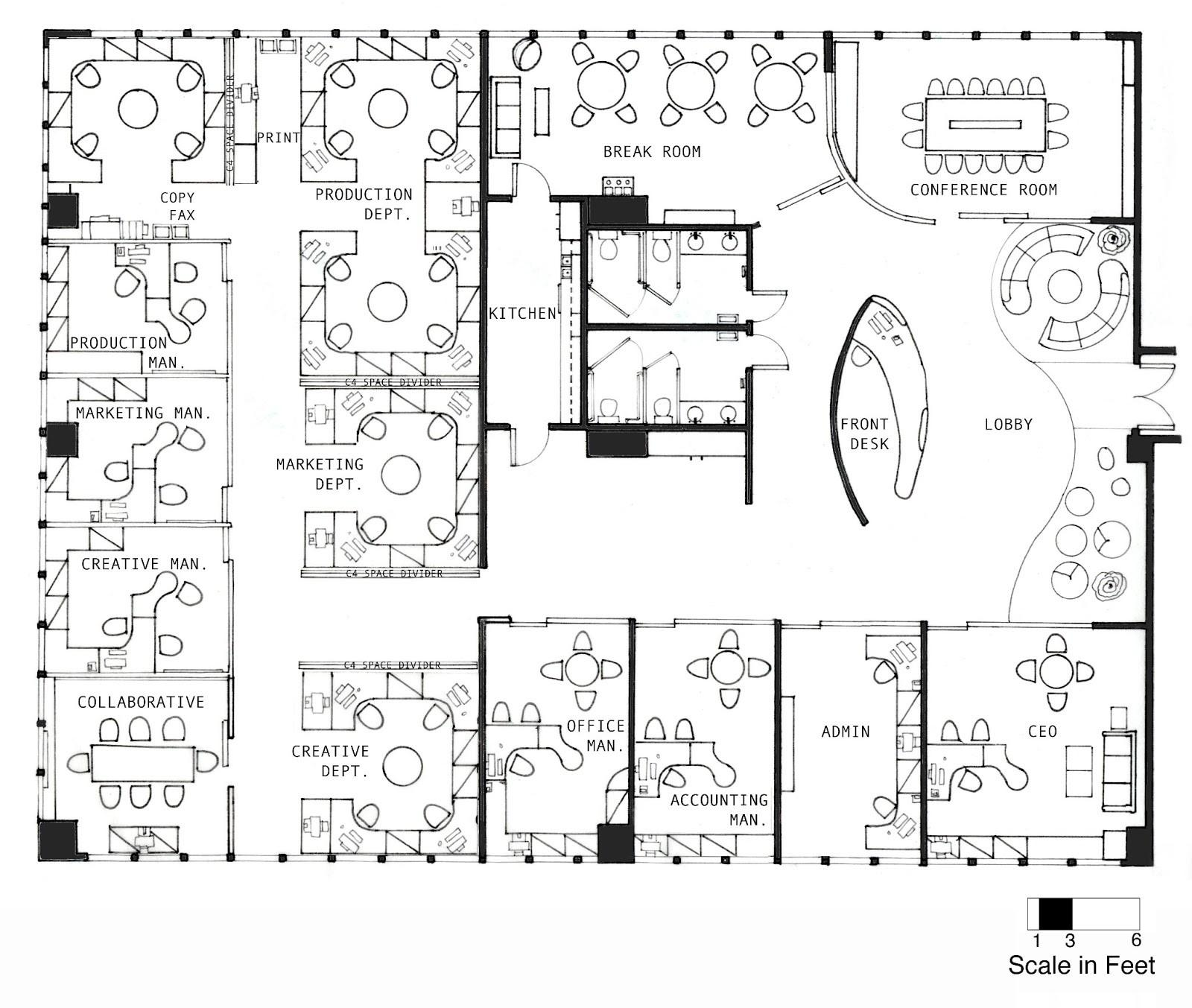 Office Interior Layout Plan Delectable Furniture Concept