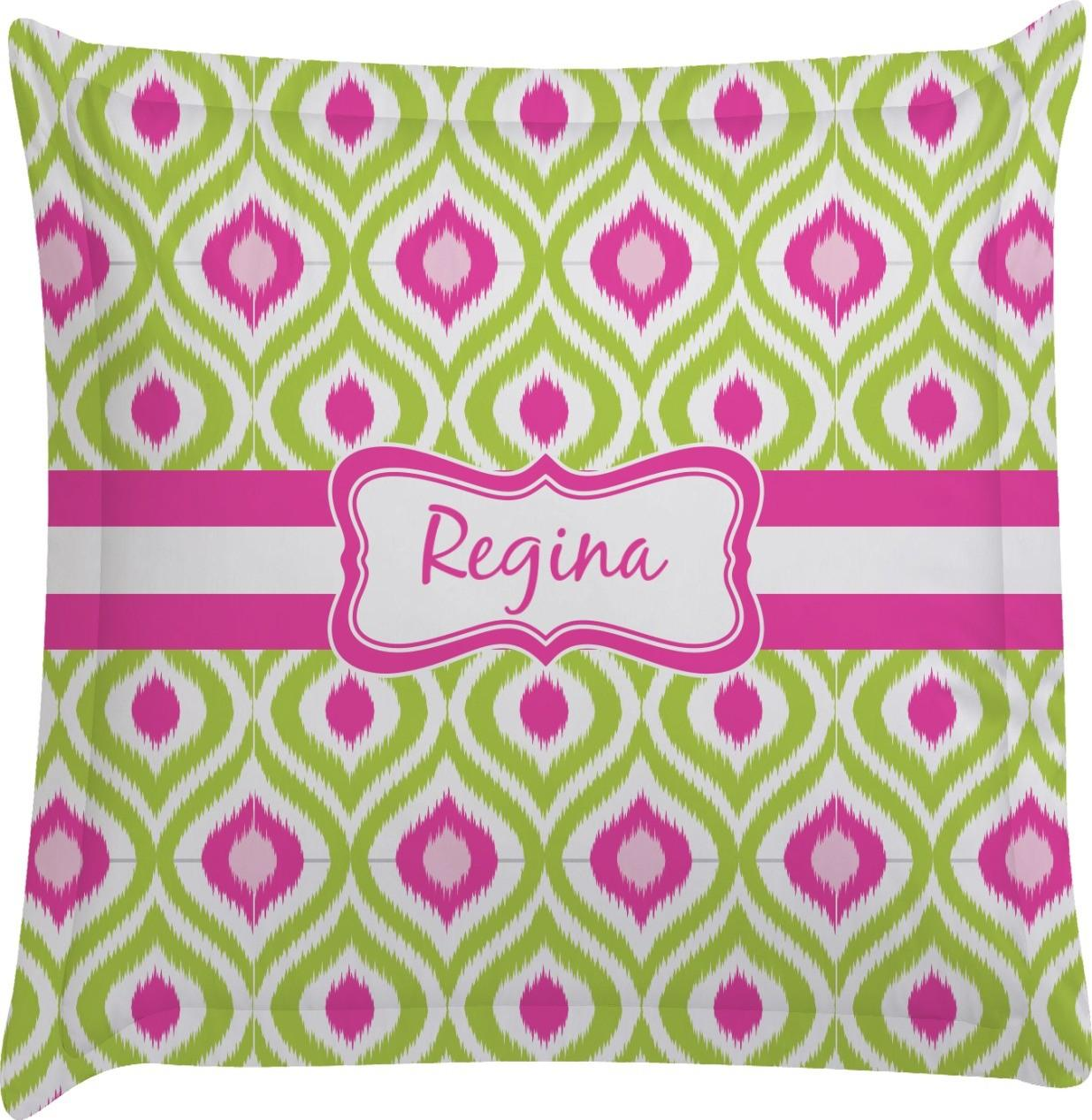 Ogee Ikat Euro Sham Pillow Case Personalized