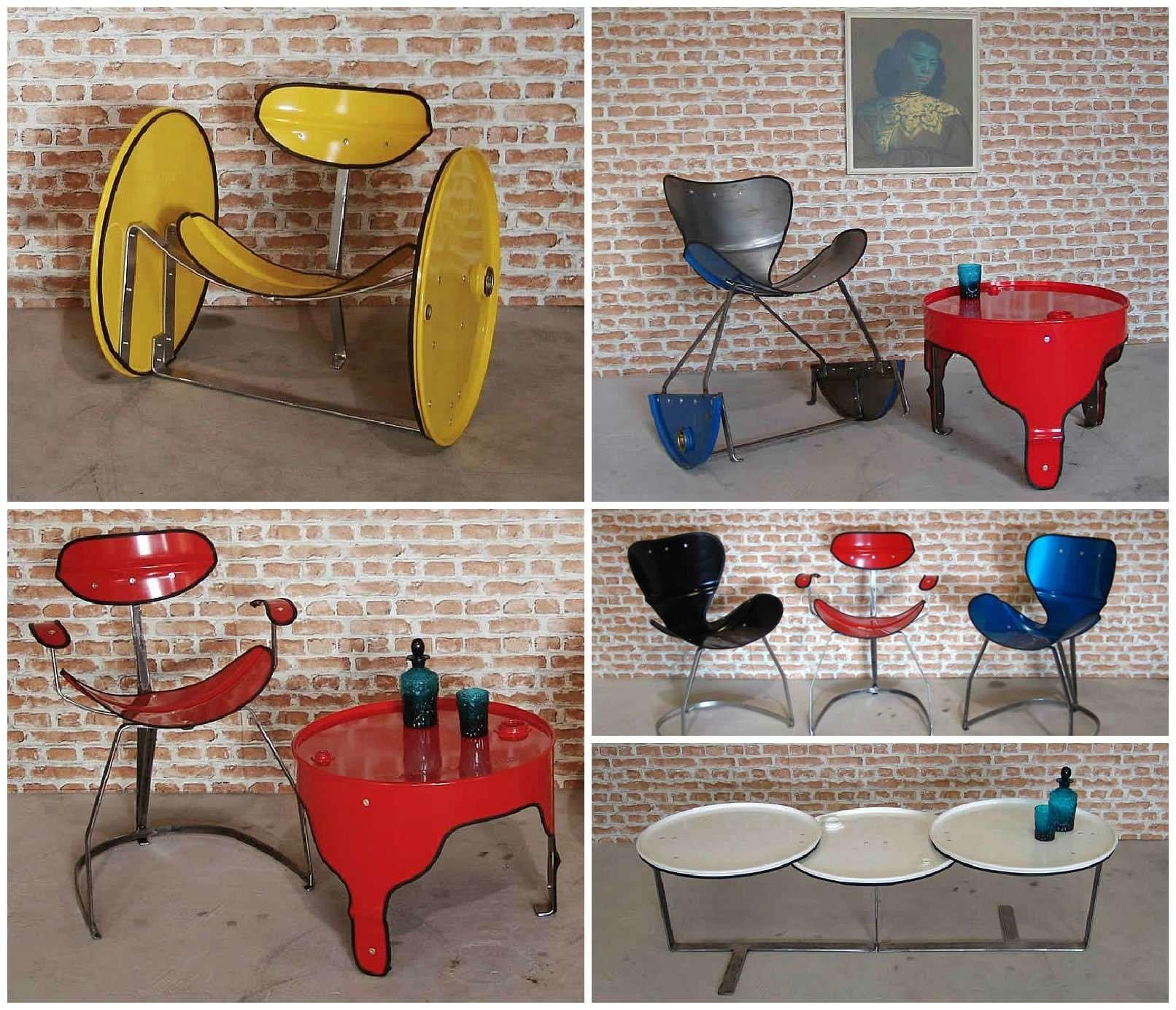 Oil Drums Upcycled Into Beautiful Furniture