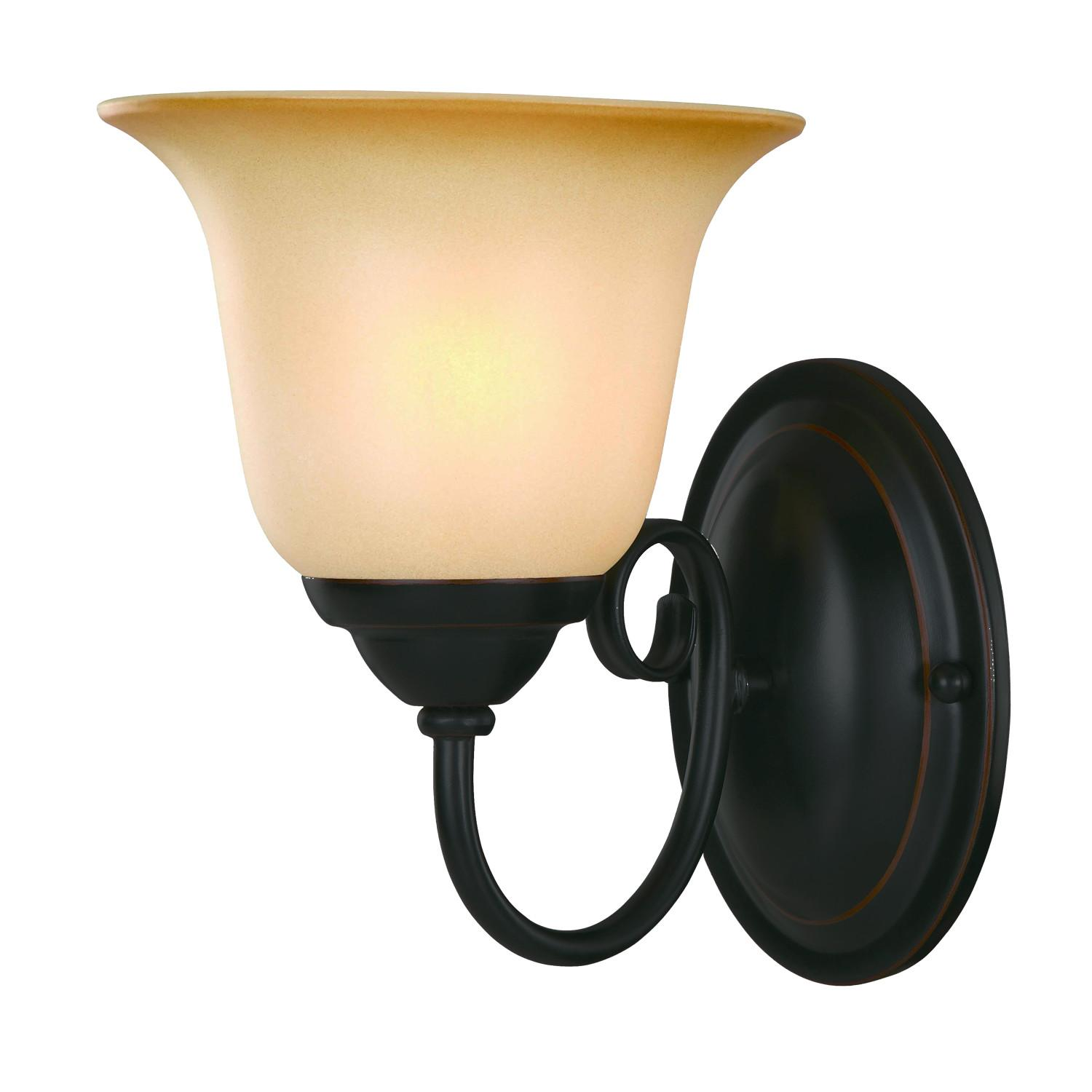 Oil Rubbed Black Bronze Bathroom Light Wall Mounted Sconce