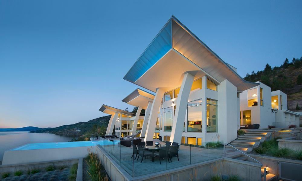 Okanagan Lake Waterfront Home Minimalist Elegant