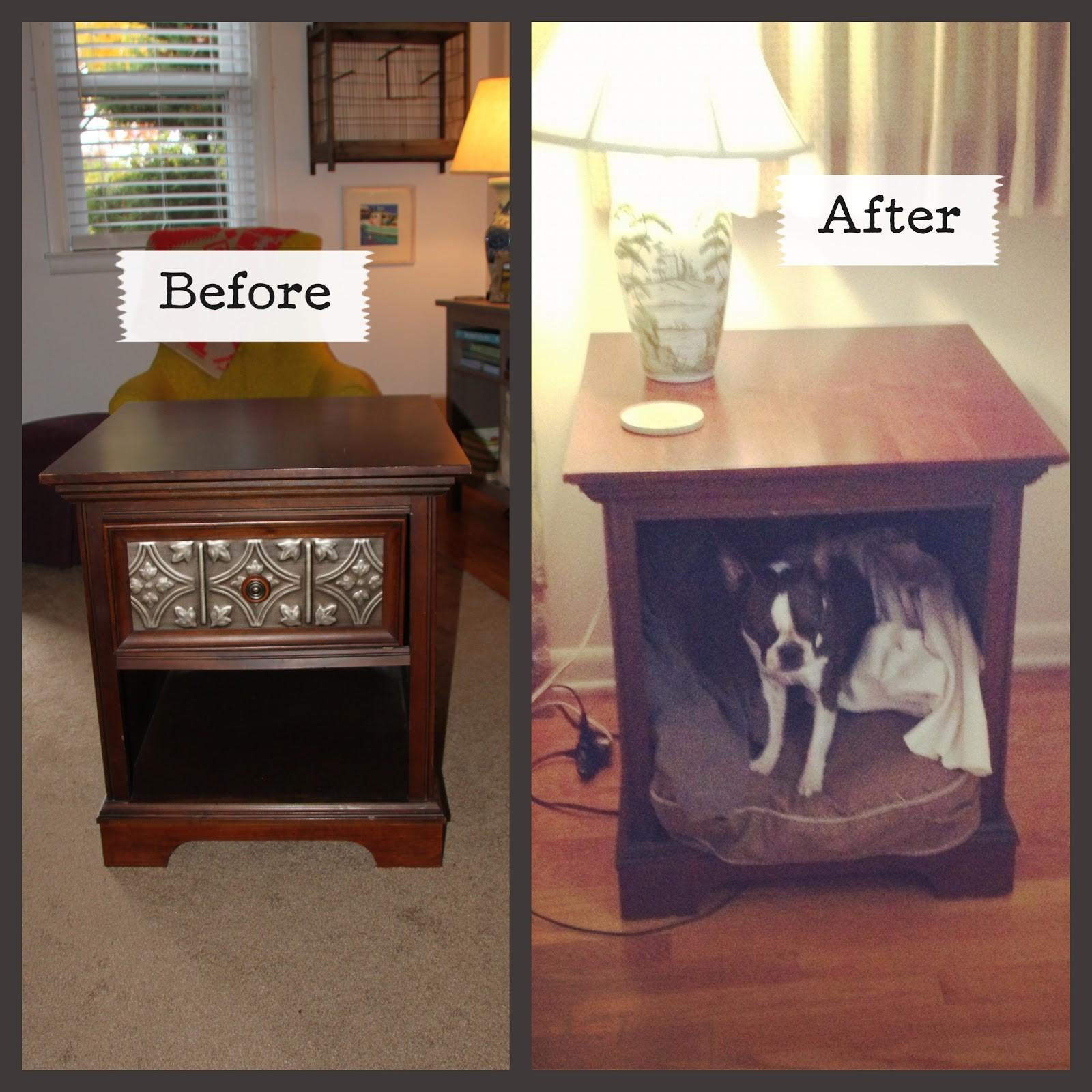 Old Console Turned Into Side Table Dog Bed Diy