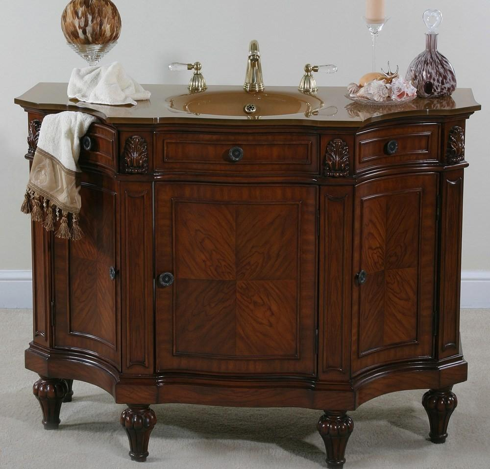Old Curved Vanity Unit Bathroom Good Home Design