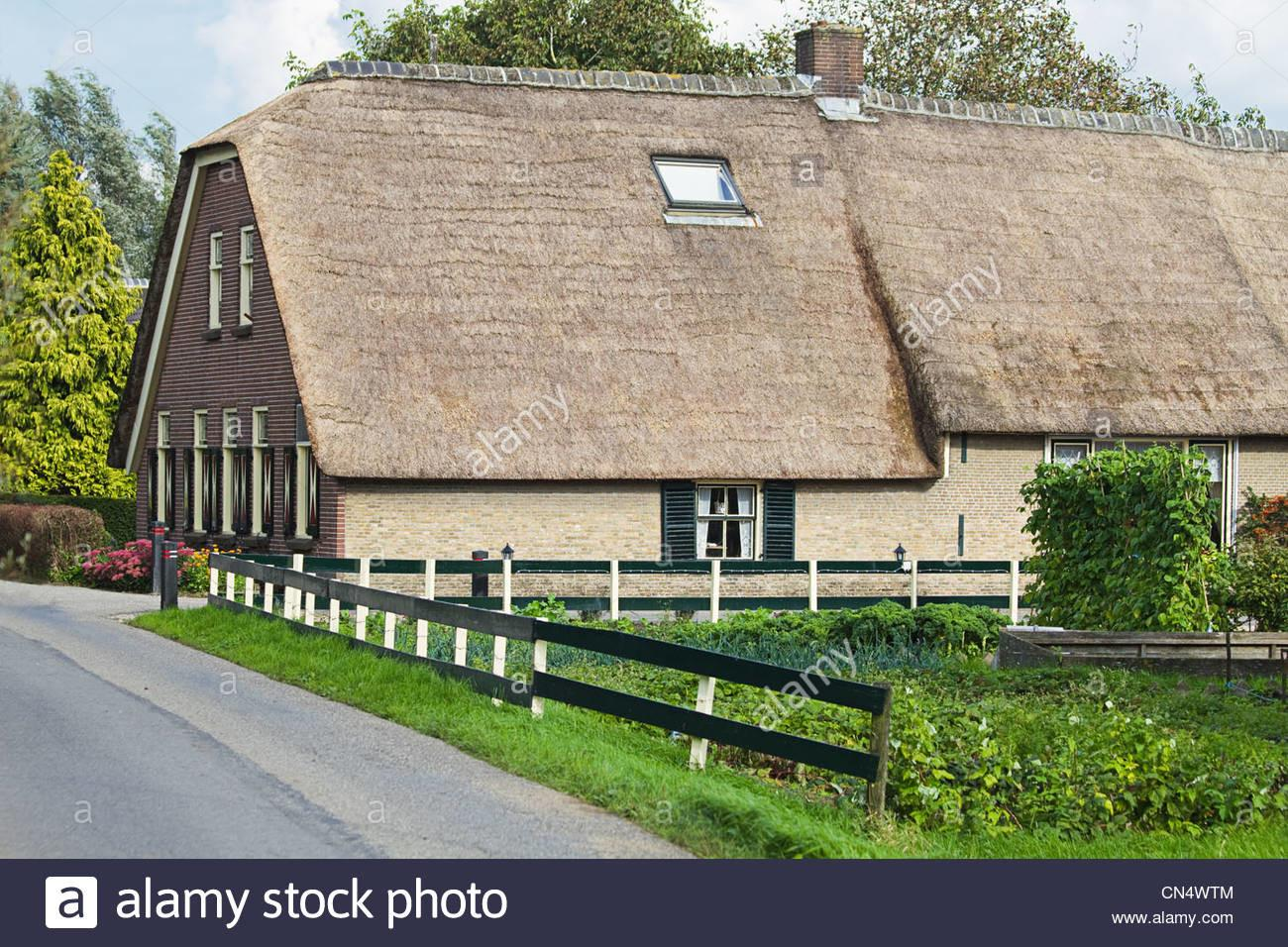 Old Dutch Farm Country Thatched Roof