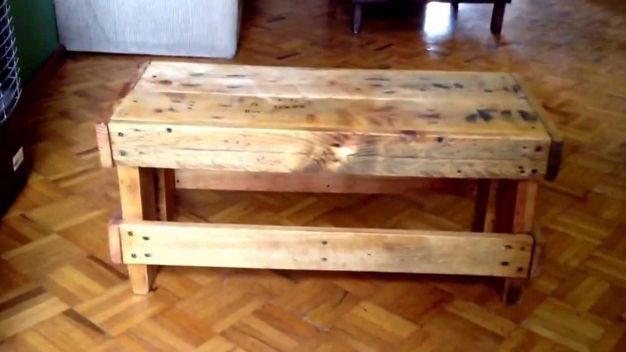 Old Pallets Project Diy Little Bench Coffee Table