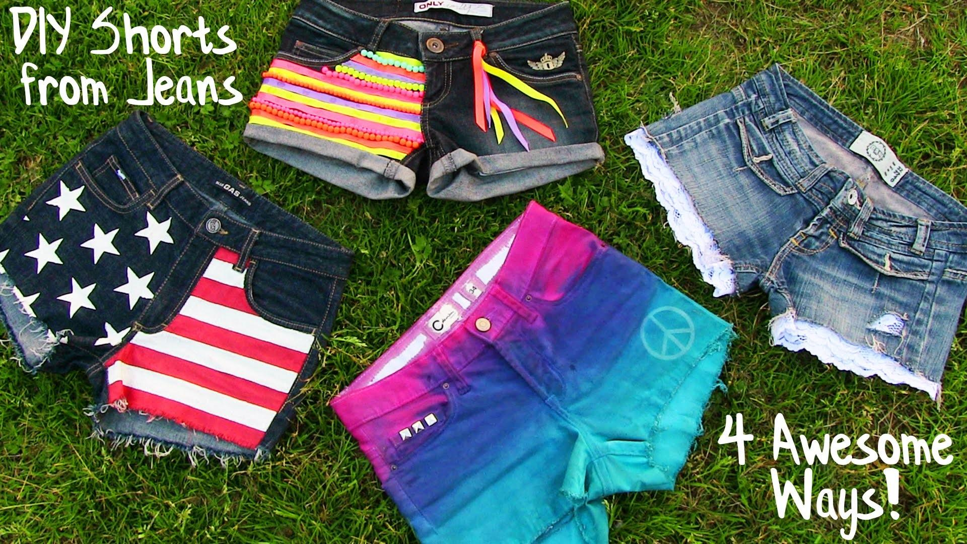 Old Pants New Shorts Forever Diy