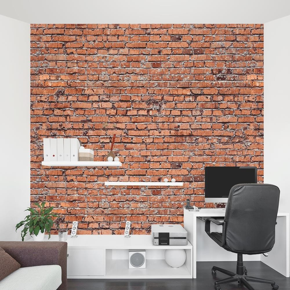 Old Red Brick Wall Mural