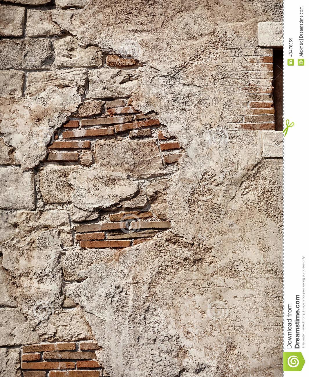 Old Rustic Stone Brick Wall Texture Stock