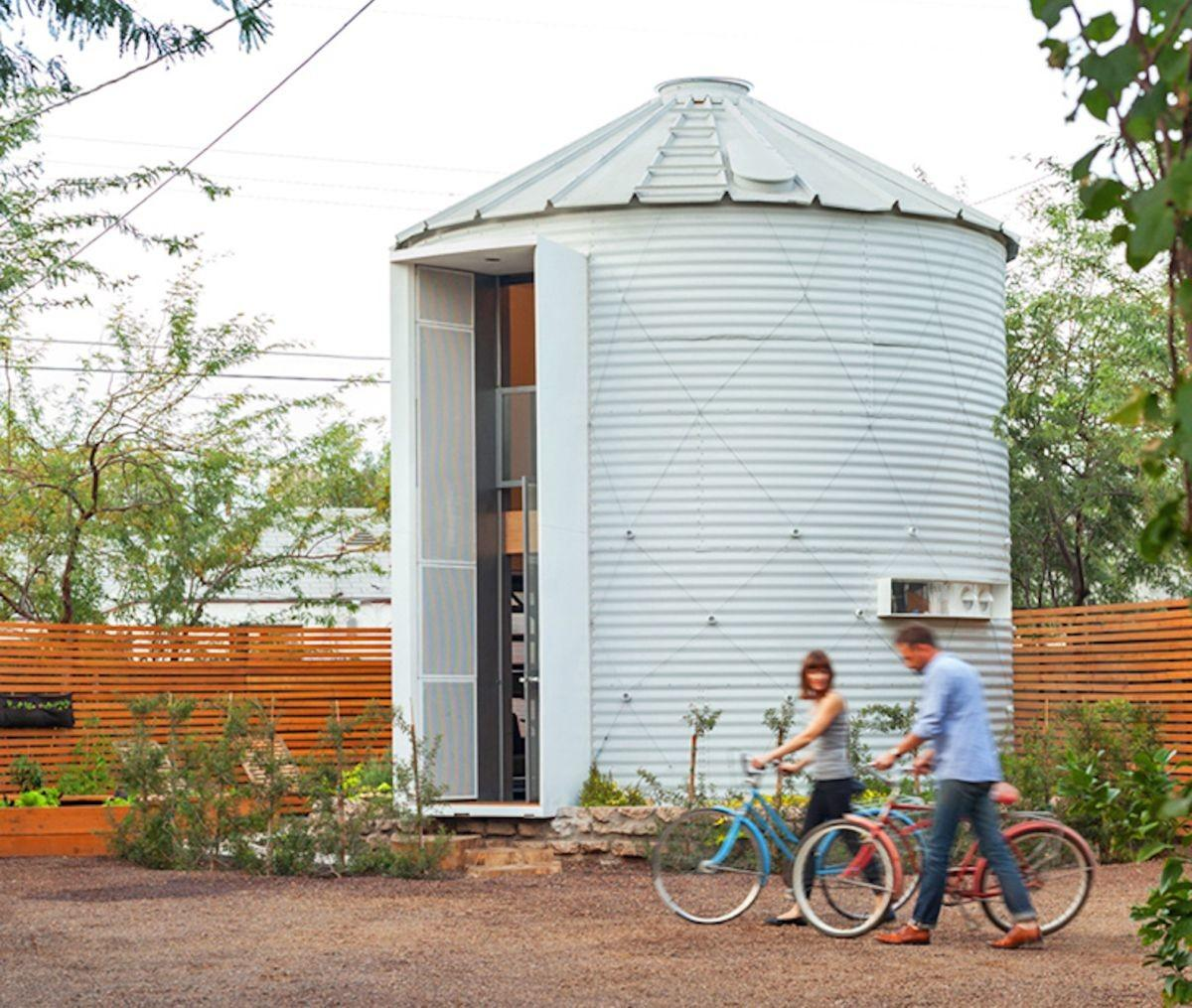 Old Silo Relocated Become Cozy Modern Home