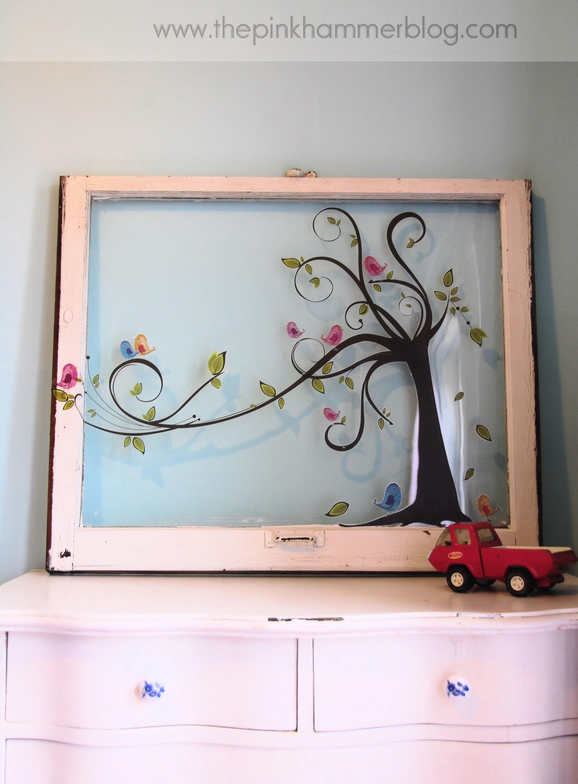 Old Window New Piece Wall Art Simple Diy