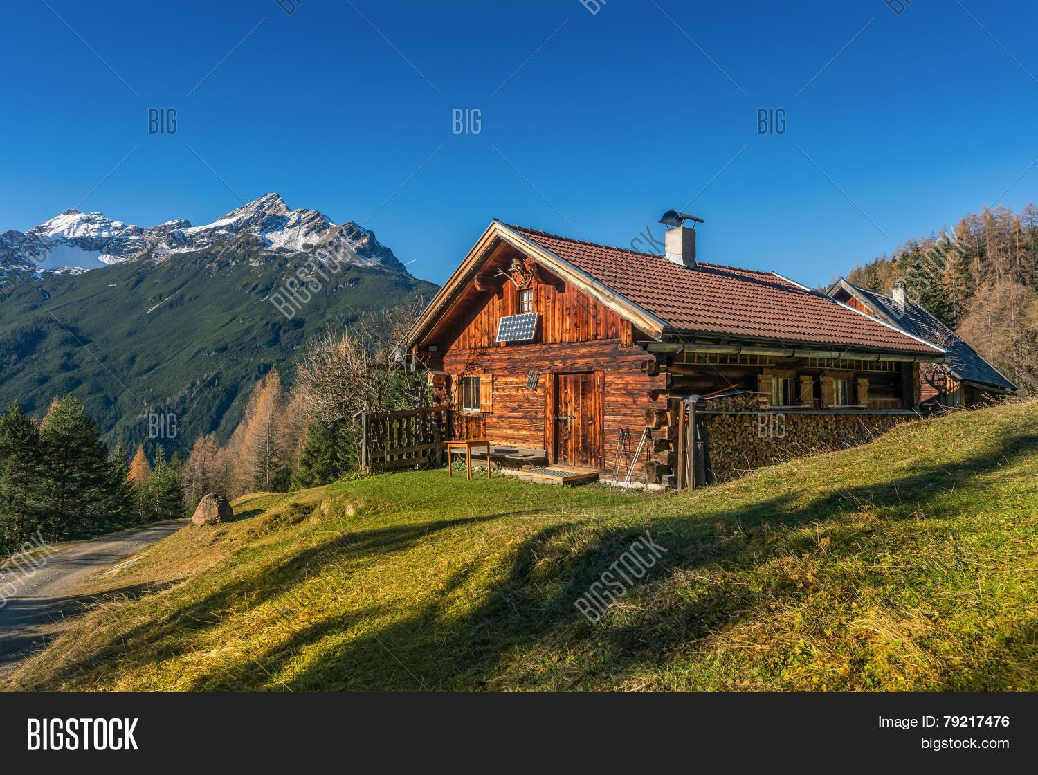 Old Wooden Hut Cabin Mountain Alps Bigstock