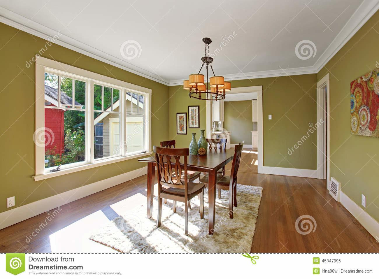 Olive Green Dining Room Traditional