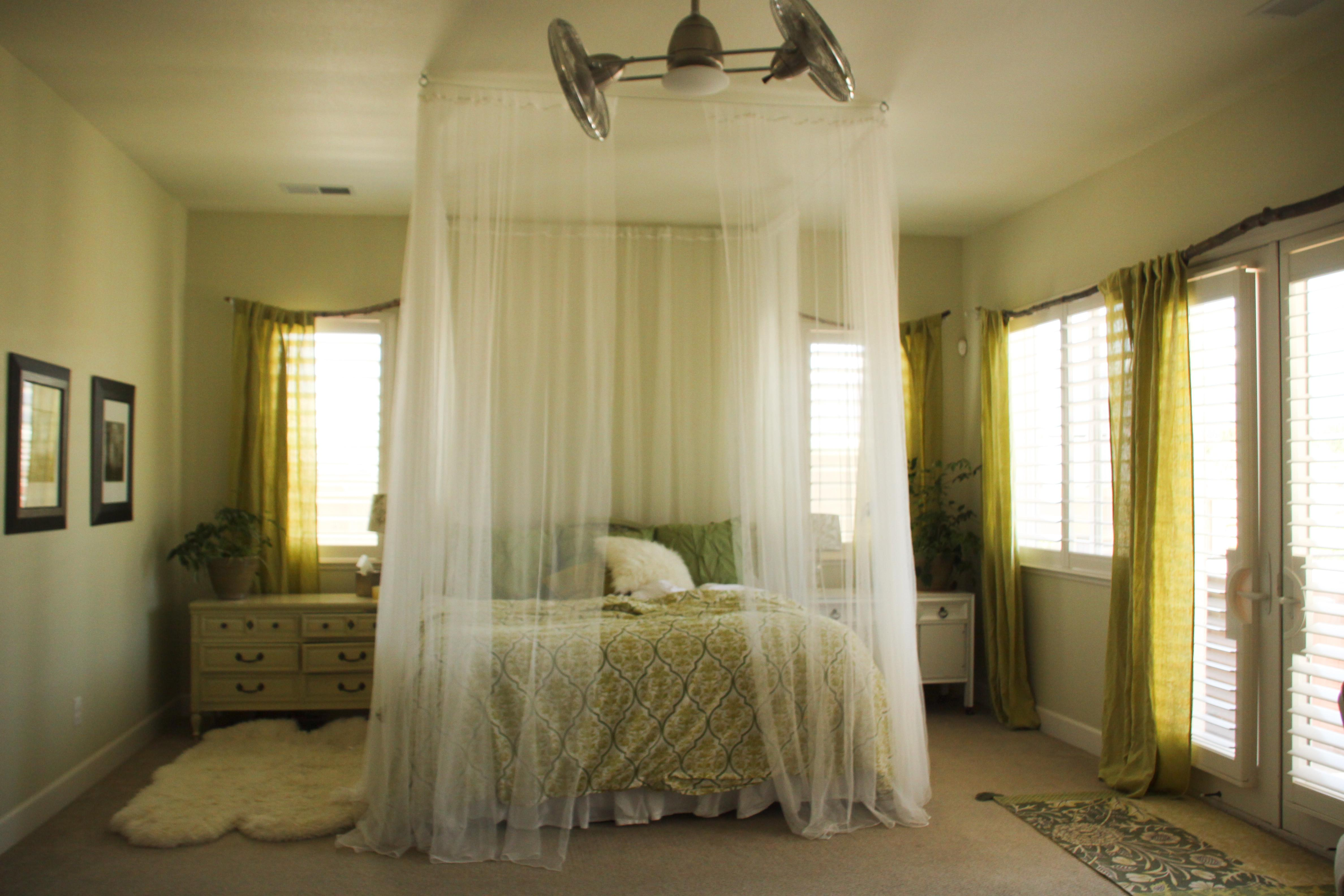 Photo Of Diy Ceiling Mounted Bed Canopies That Will Add Charm Freshness Photo Examples Decoratorist
