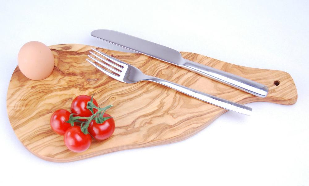 Olive Wood Board Natural Cutting Chopping Cheese Pizza