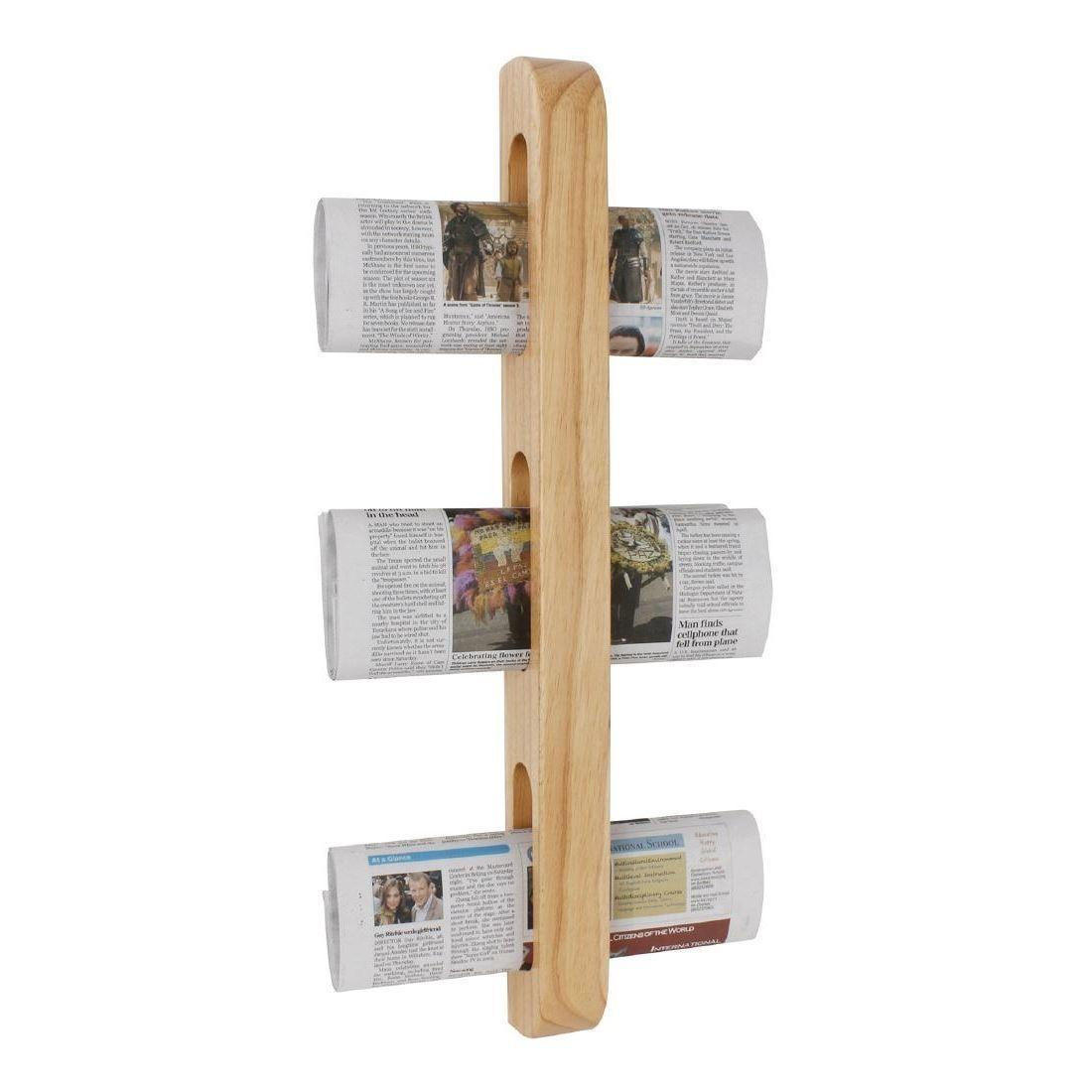 Olympia Wooden Magazine Rack Wall Mounted Newspaper Holder