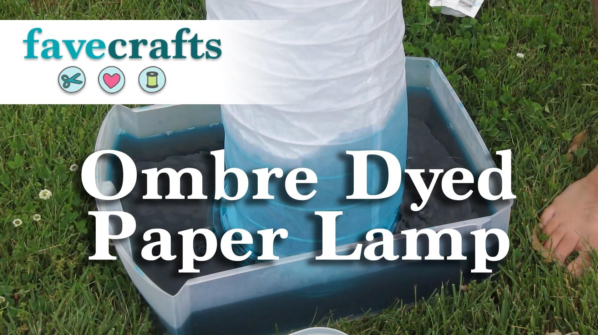 Ombre Dye Paper Lamp Easy Diy Project