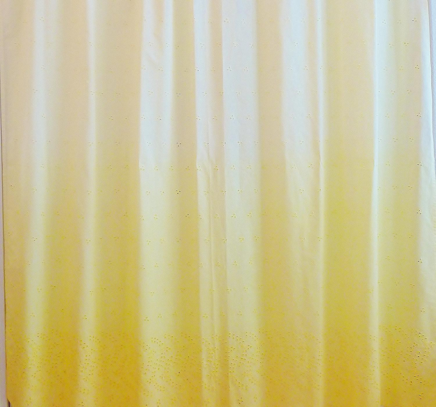 Ombre Sunrise Shower Curtain Hand Dyed Eyelet Embroidered