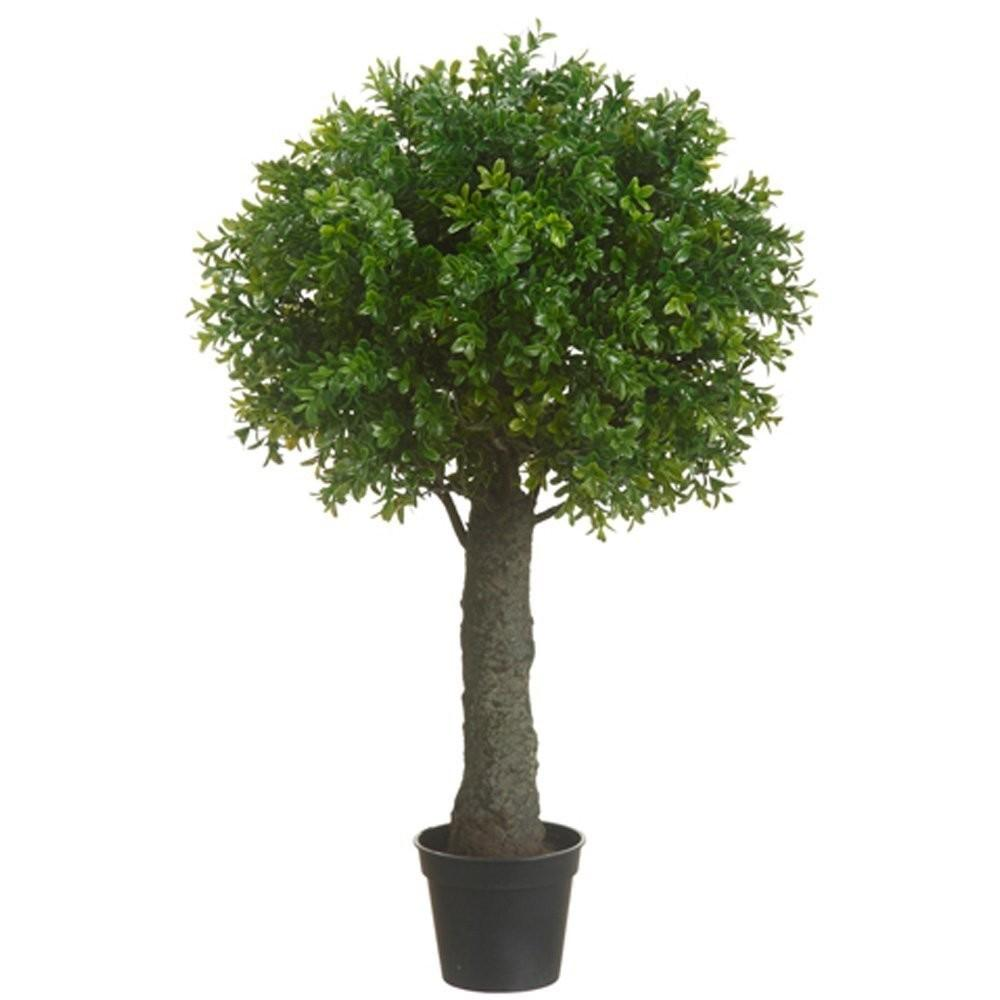 One Inch Outdoor Artificial Boxwood Ball Topiary Bush
