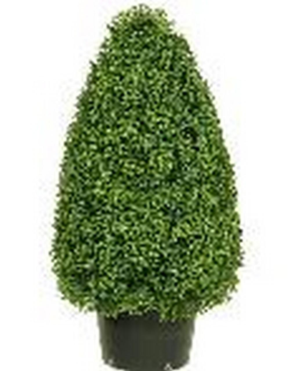 One Inch Outdoor Atificial Boxwood Cone Topiary Bush