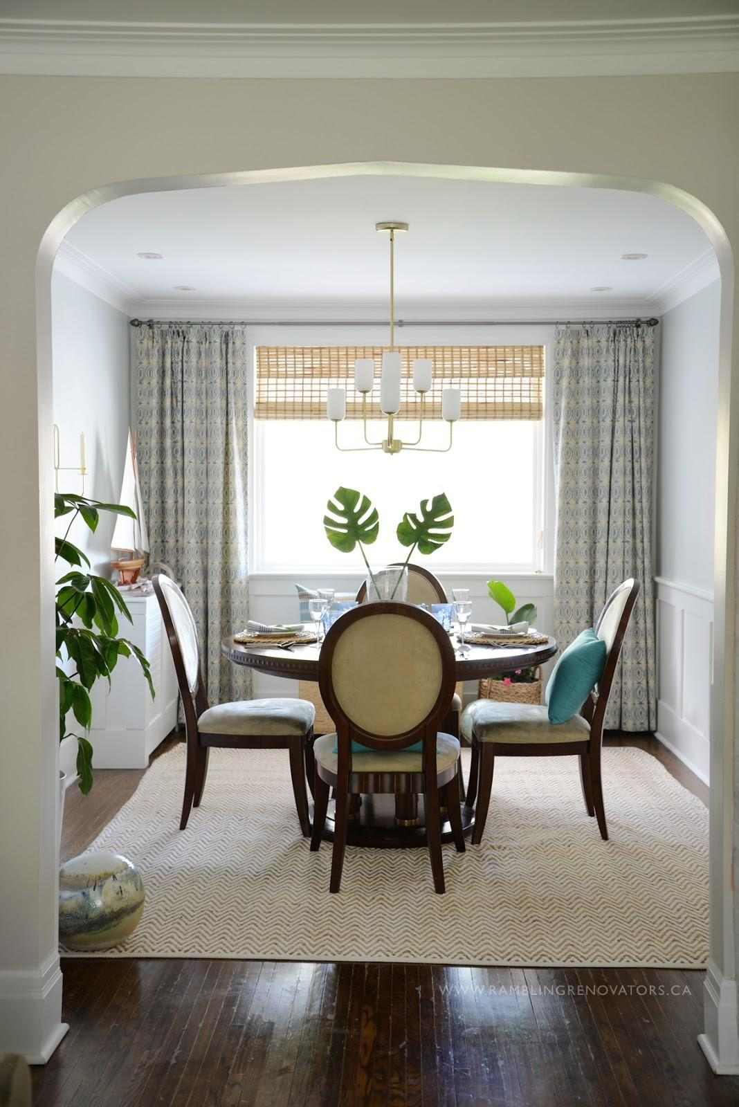 One Room Challenge Tropical Dining Reveal