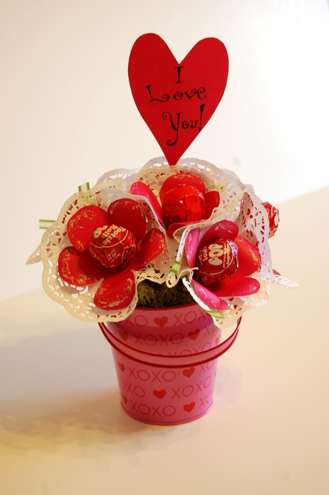 One Sunny Home Diy Valentine Day Lollipop Bouquet