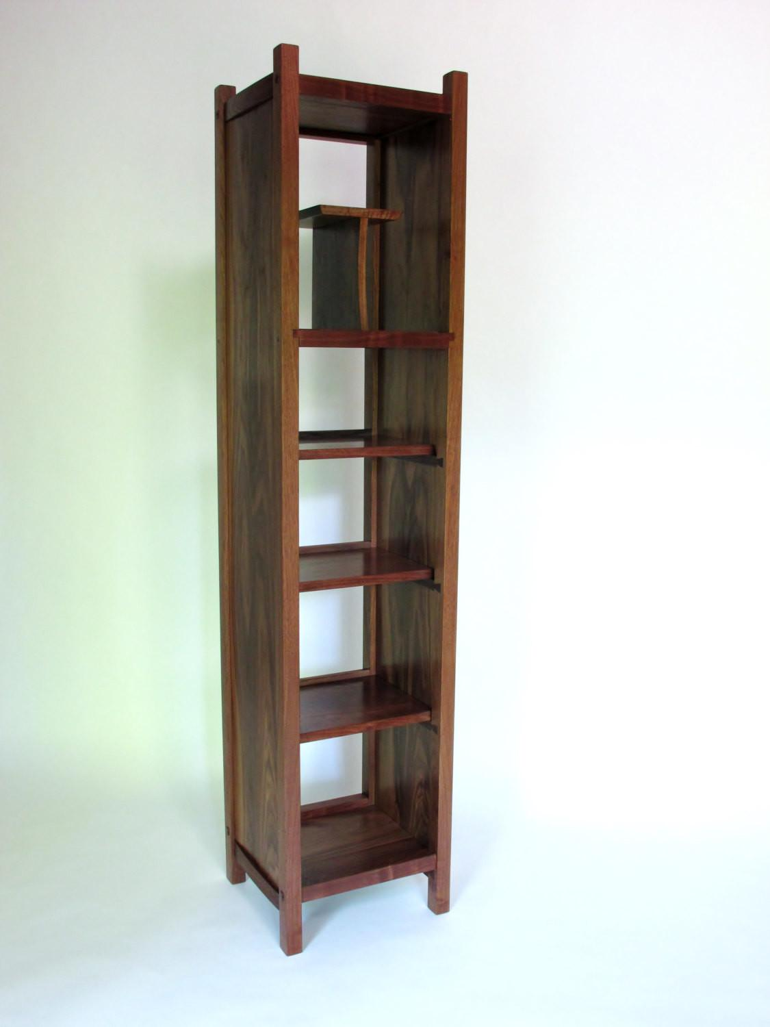 Open Bookcase Tall Storage Cabinet Narrow Modern