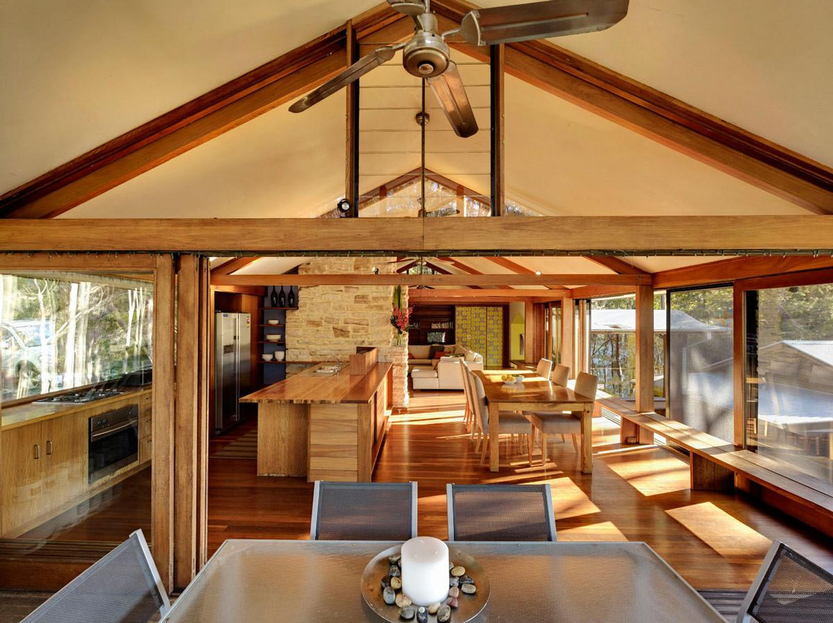 Open Plan Dining Kitchen Living Space Treetops Holiday