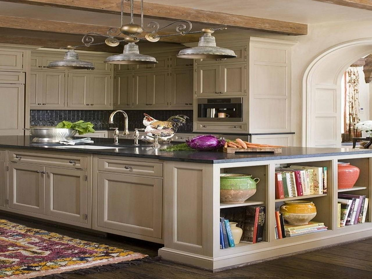 Open Shelves Add Fabulous Display Kitchen Island