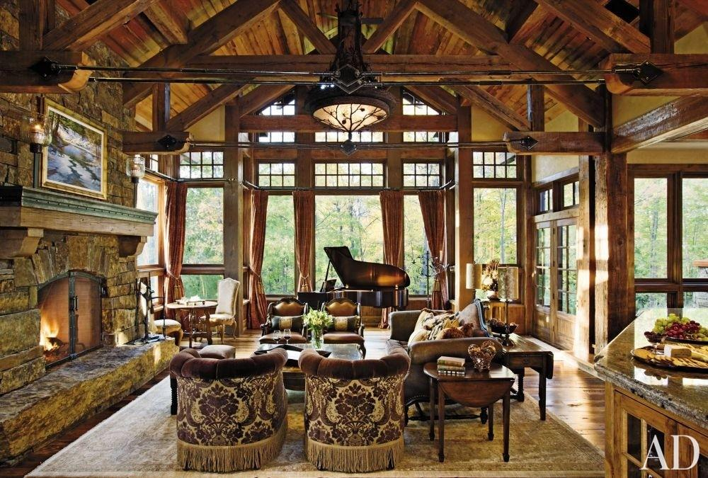 Open Sunroom Rustic Living Room Country Style