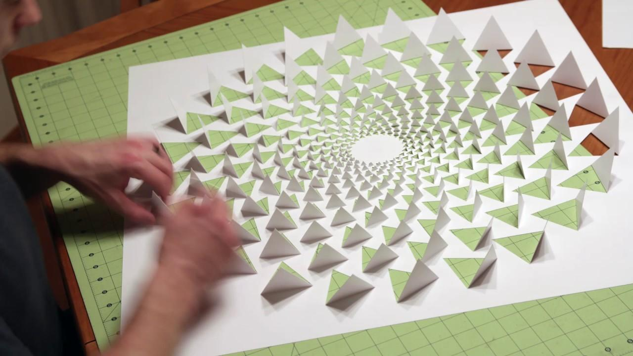 Optical Illusion Mandala Wall Art Using One Sheet