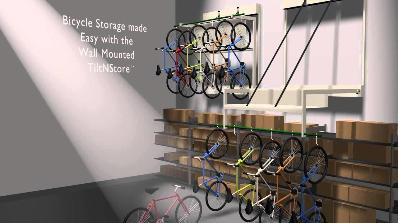 Optimize Bike Storage Wall Mounted Hanging Bicycle