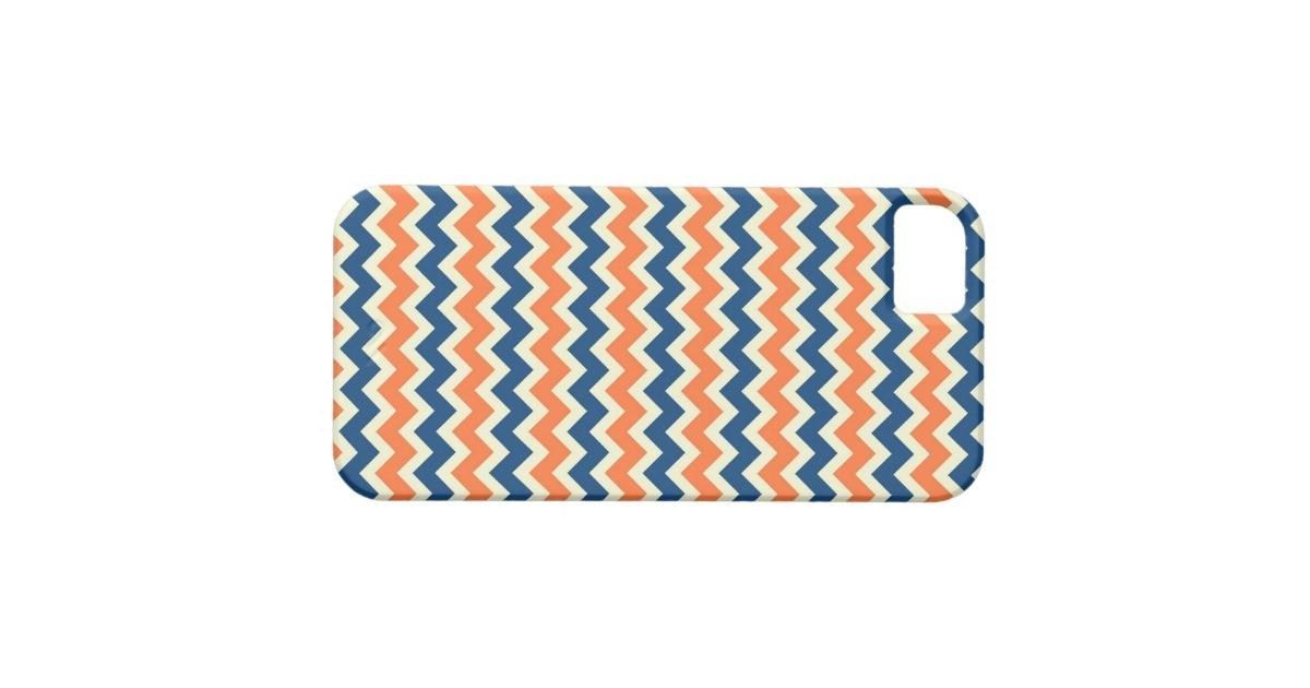 Orange Blue Chevron Zigzag Stripes Zig Zag Pattern Iphone