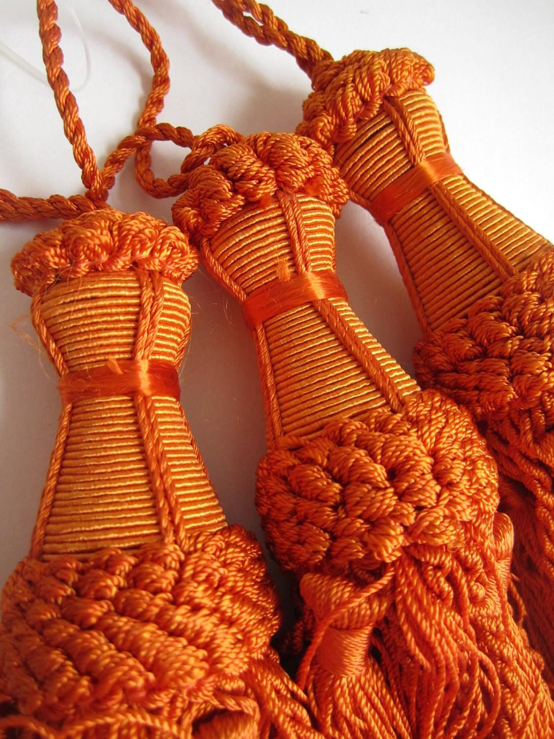 Orange Curtain Tassels Indian Home Decor Tiebacks