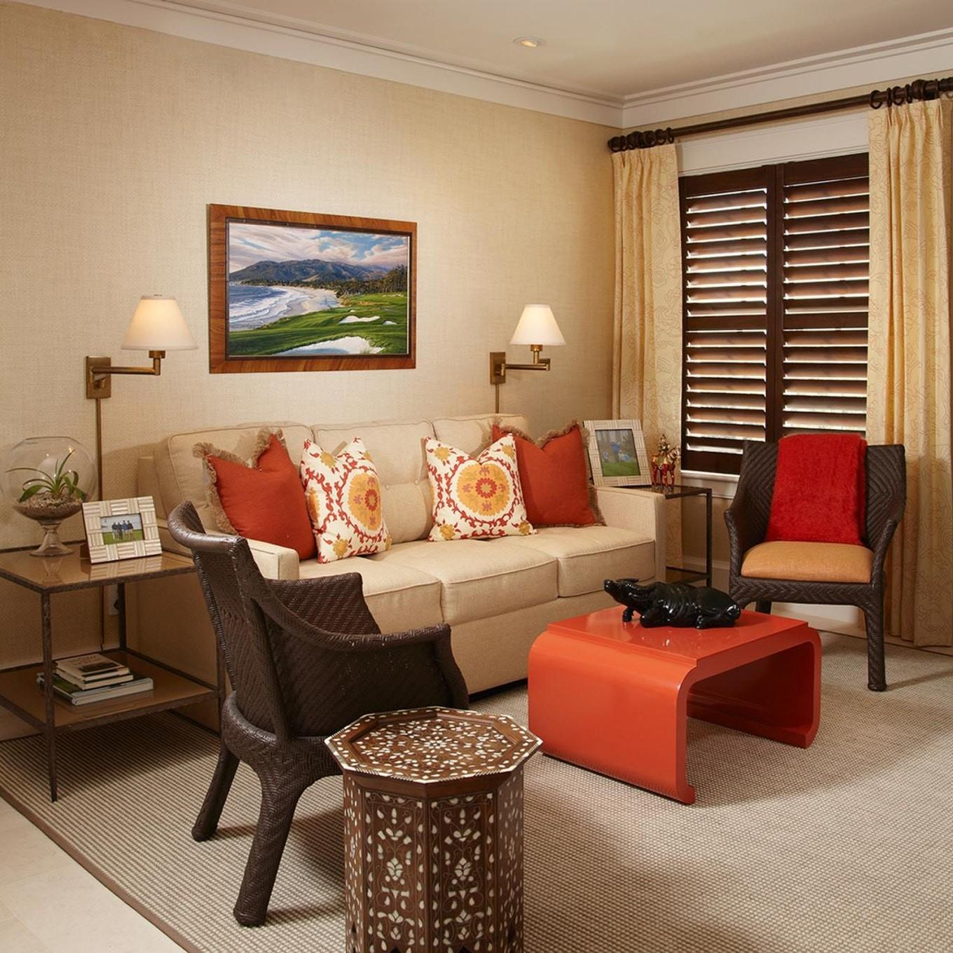 Orange Living Room Decorating Ideas Accent Chairs