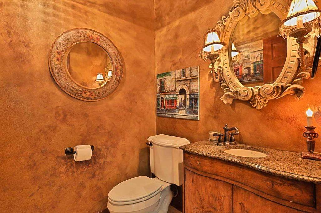 Orange Powder Room Ideas