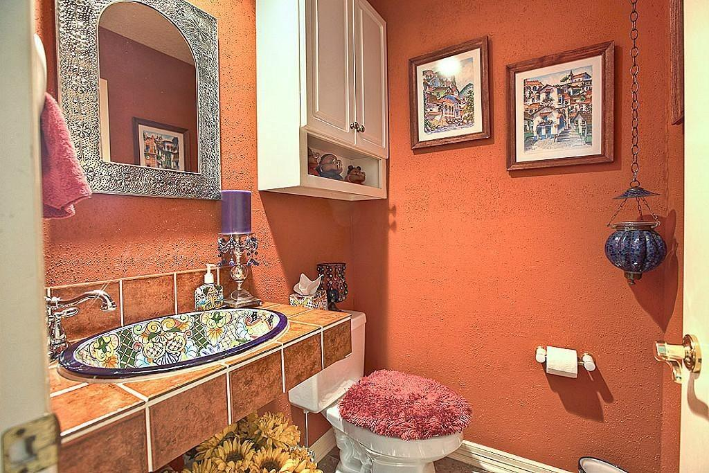 Orange Powder Room Ideas 2018