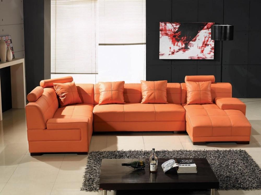 Orange Sofa Living Room Ideas Dark Interior Color