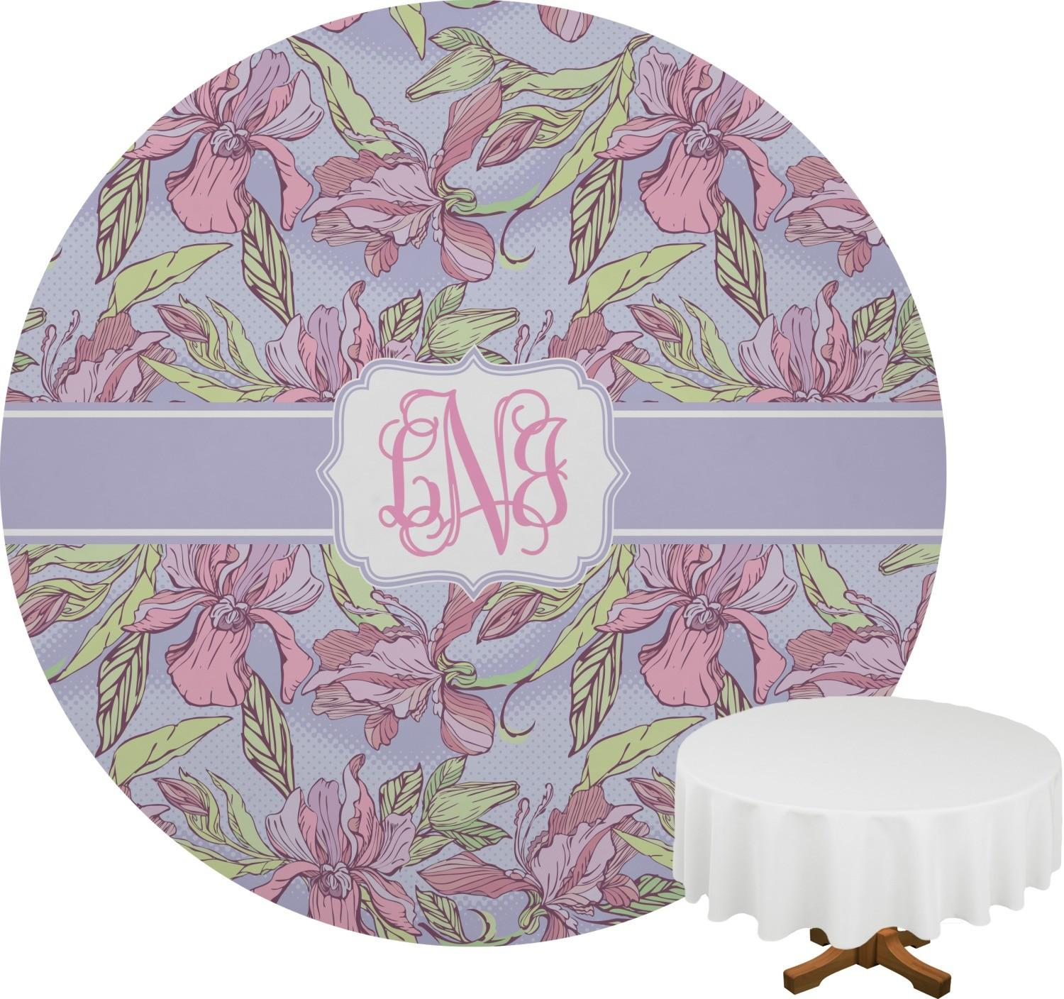 Orchids Round Table Cloth Personalized Rnk Shops