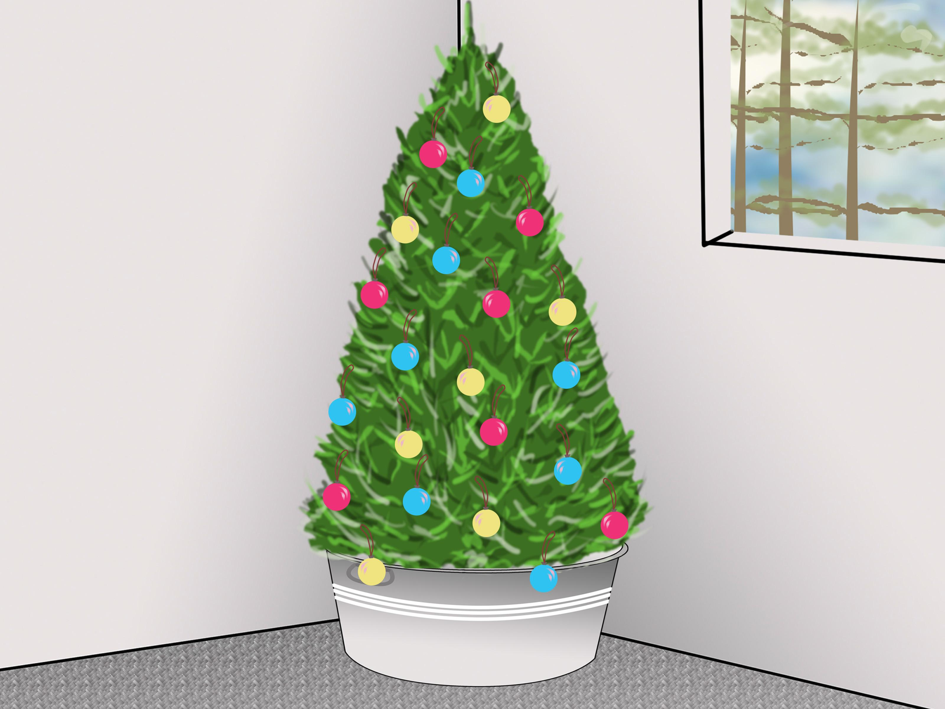 Order Decorate Christmas Tree Lights Card