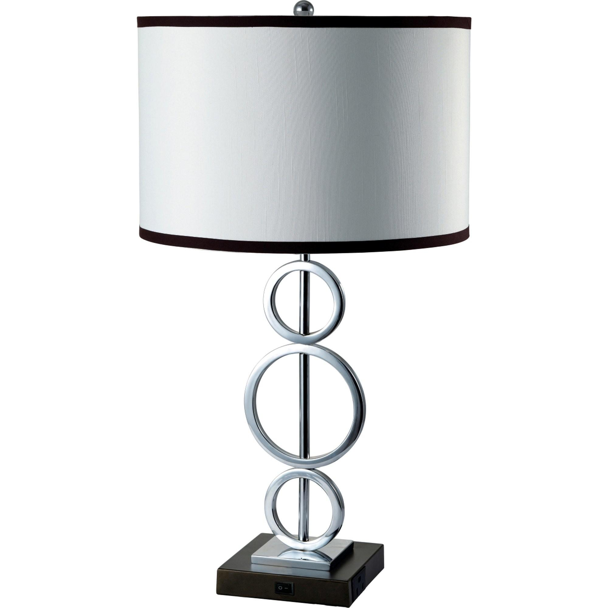 Ore Furniture Three Ring Table Lamp Drum Shade