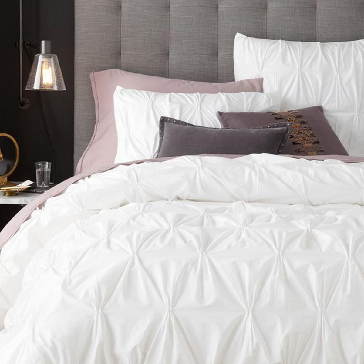 Organic Cotton Pintuck Duvet Cover Pillowcases West Elm