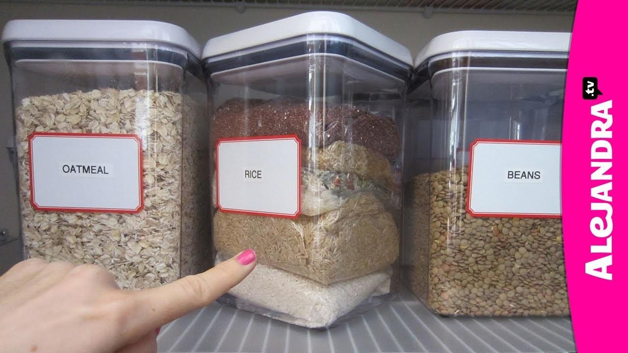 Organizational Tips Rice Storage Kitchen Pantry