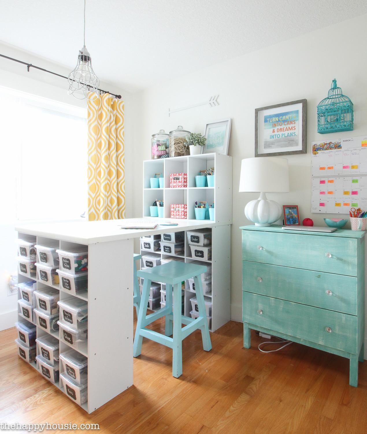 Organize Craft Room Work Space Happy Housie