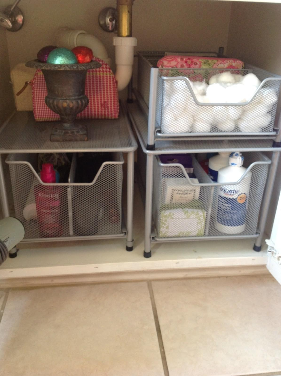 Organize Under Bathroom Sink