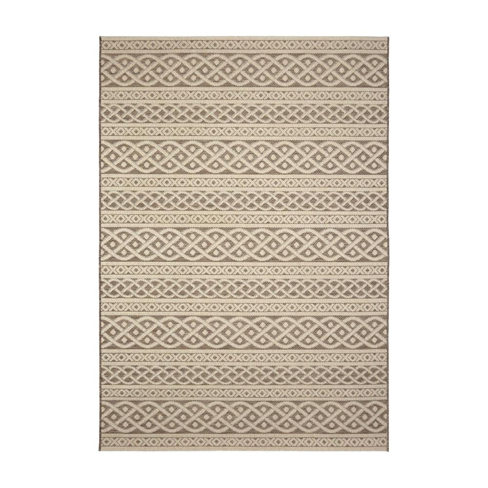 Orian Rugs Indoor Outdoor Knit Tied Tan Area Rug