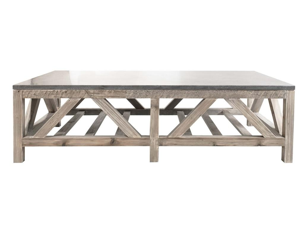 Orient Express Furniture 7302 Blue Stone Coffee Table