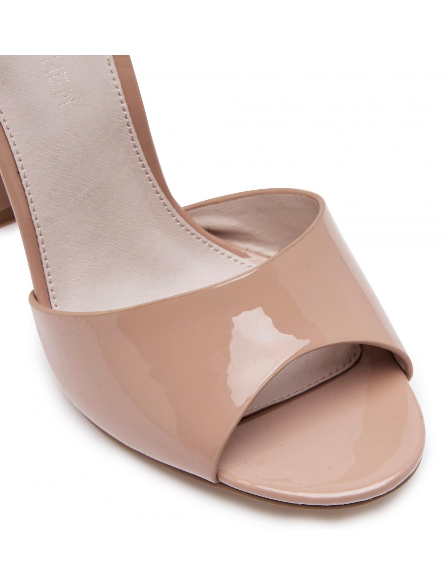 Origami Bow Block Heels Nude Womens Fashion Forever New