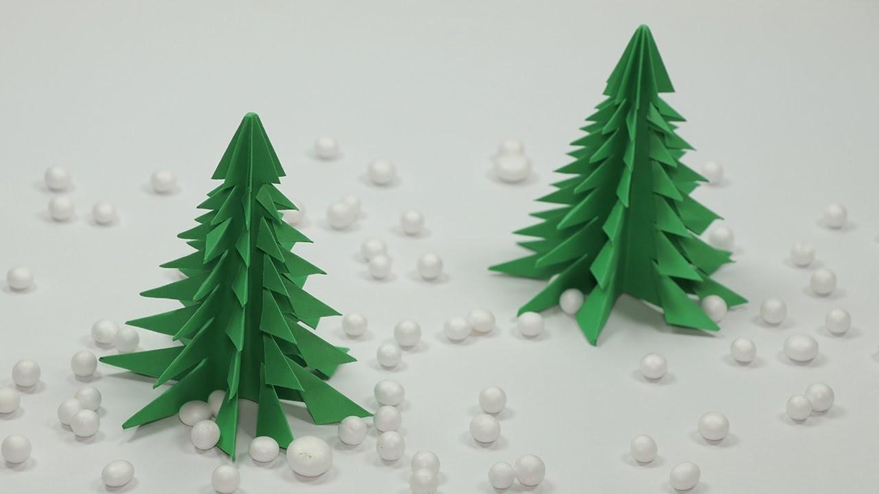 Origami Christmas Tree Craft Diy Paper