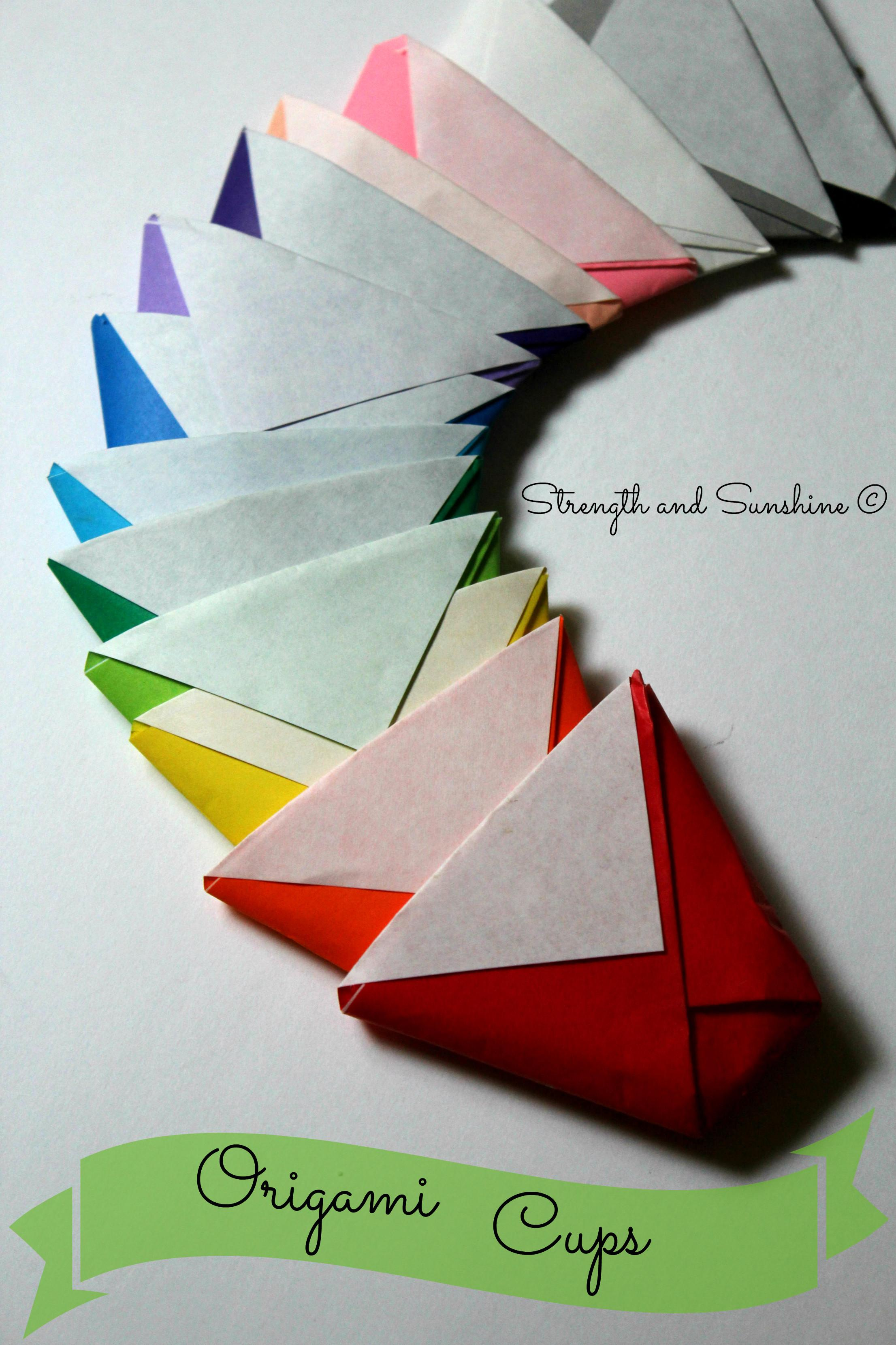 Origami Cup Strength Sunshine