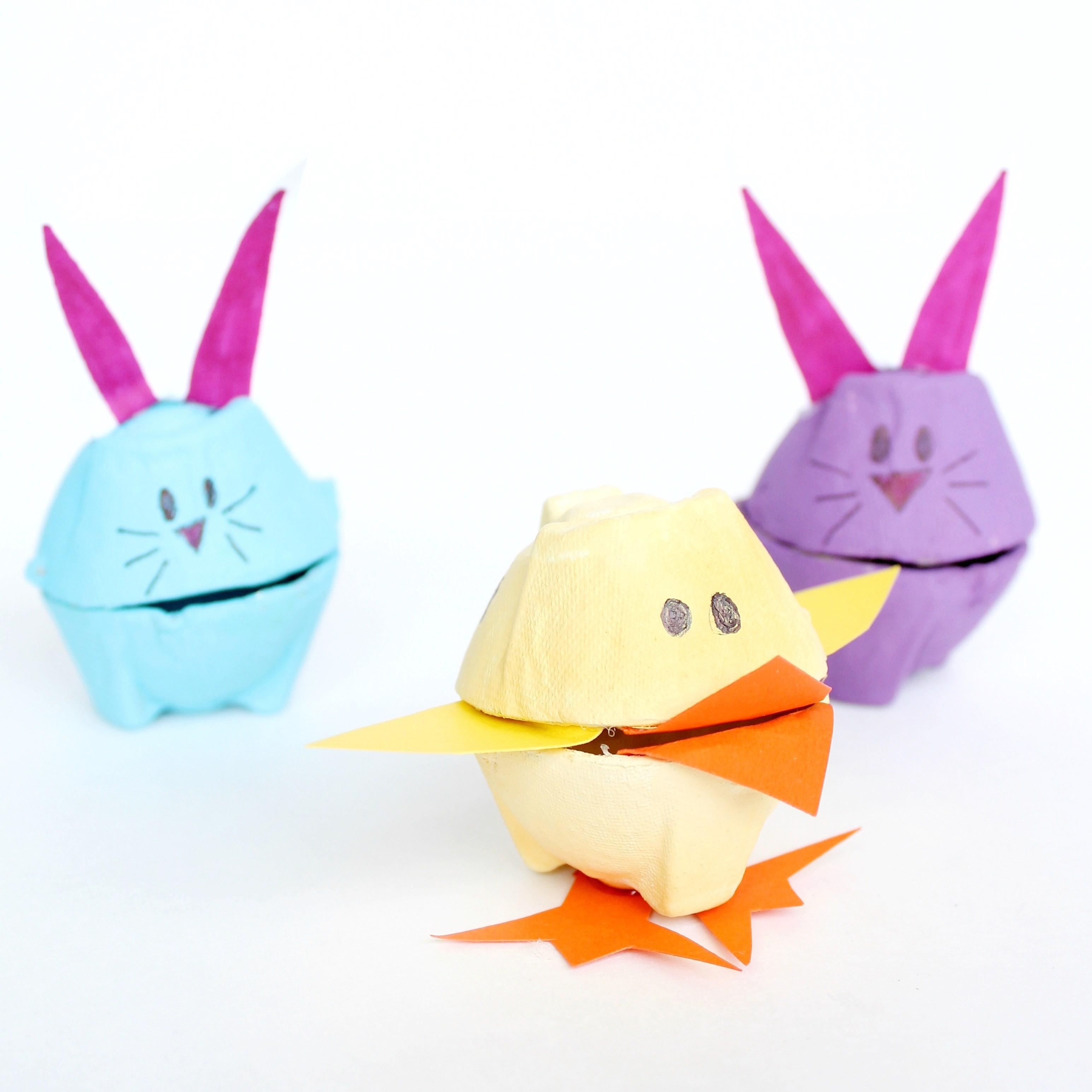 Origami Diy Easter Bunny Baskets Gathering Beauty